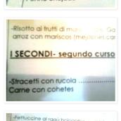 """También es curiosa la traducción al español en esta carta de un restaurante italiano. ¿Cómo serán los """"pennes enojados""""? Visto en: http://cibertrolas.blogspot.com.es/2012/10/pene-enojado.html"""