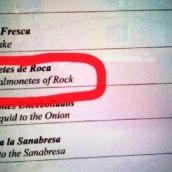 Rockin' menu