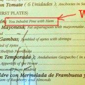 Error por traducir literalmente «habitas» como la segunda persona del verbo «habitar»