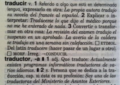 Traducir según el diccionario Clave
