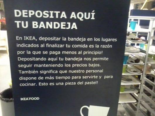 Para pastel, la traducción de este cartel de Ikea.