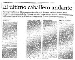 Articulo en el Clarín sobre la traducción literaria en Argentina.