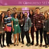 En el IV Congreso SELM con unos estudiantes la mar de majos