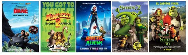Algunas de las películas de animación que he subtitulado